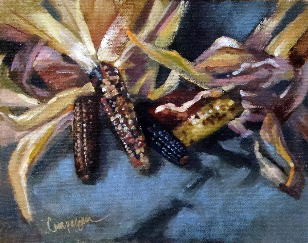 """Indian Corn"" original fine art by Roseanne Campagna"