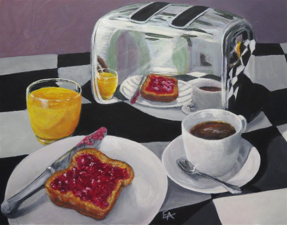 """Breakfast Reflections"" original fine art by Elizabeth Elgin"