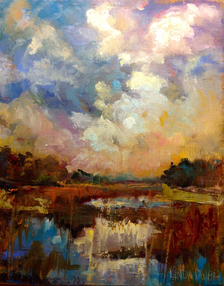 """Cloud Study"" original fine art by Linda Dunbar"