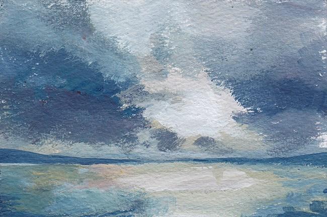 """Sea and Sky Study"" original fine art by J M Needham"