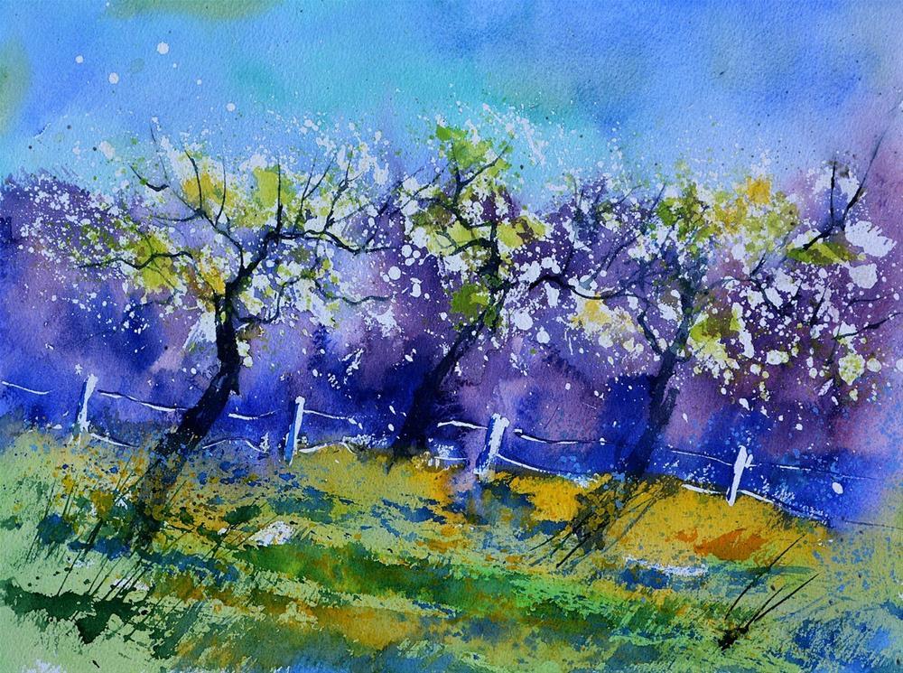 """""""watercolor 511013"""" original fine art by Pol Ledent"""