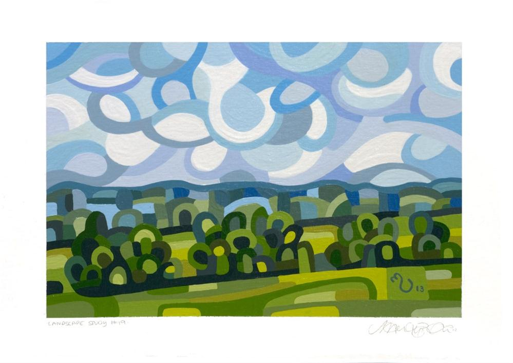 """Landscape Study #19"" original fine art by Mandy Budan"
