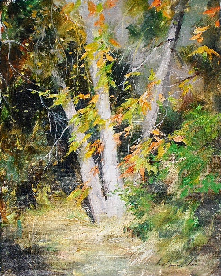 """Autumn Sunlight"" original fine art by Kelvin Lei"