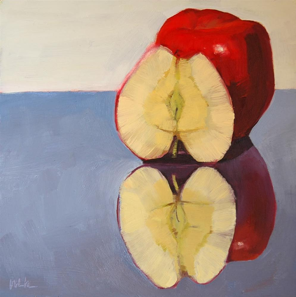"""Apple(s)"" original fine art by Miriam Hill"
