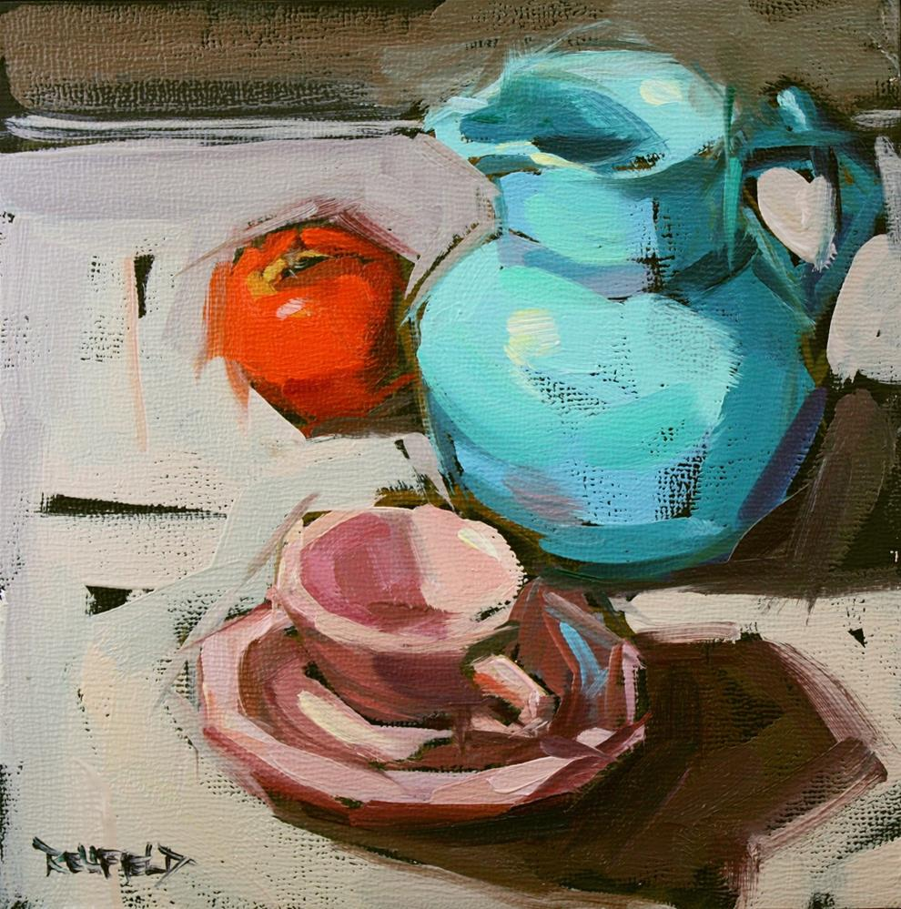 """The Blue Pitcher and Friends"" original fine art by Cathleen Rehfeld"