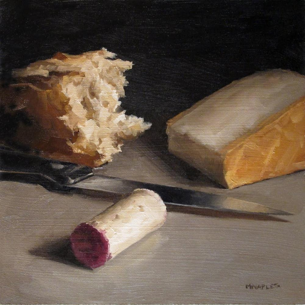 """Still Life with Knife and Cork"" original fine art by Michael Naples"