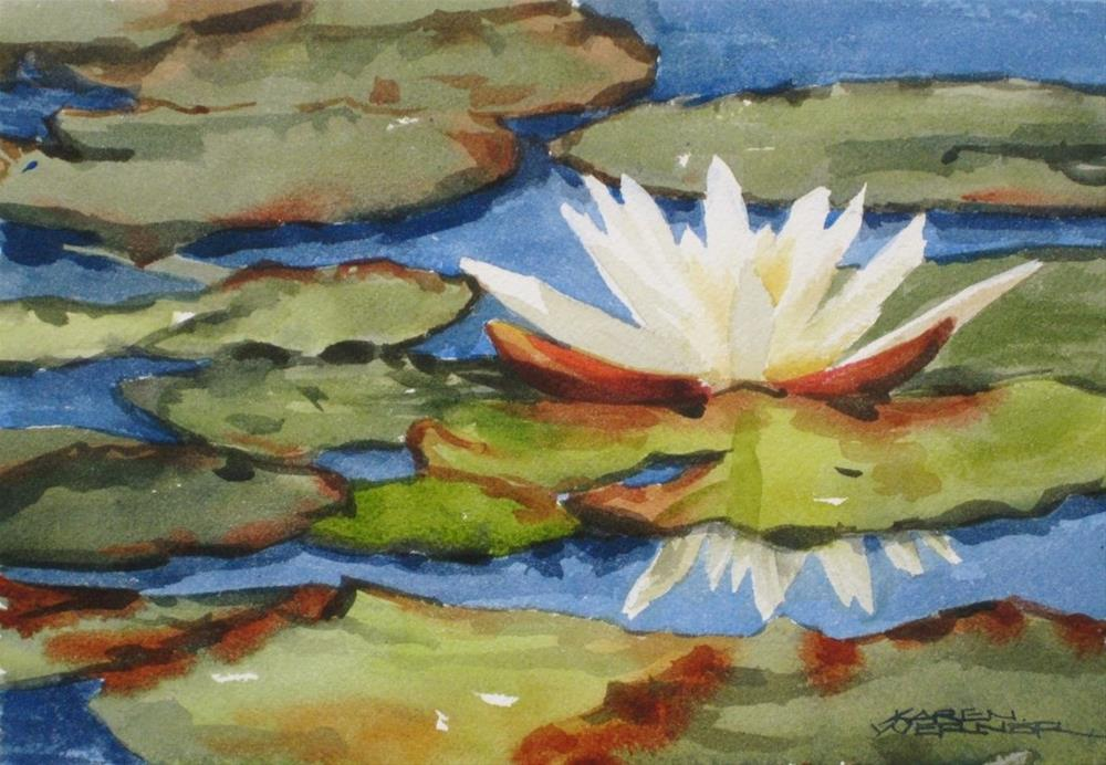 """Lily Pads"" original fine art by Karen Werner"