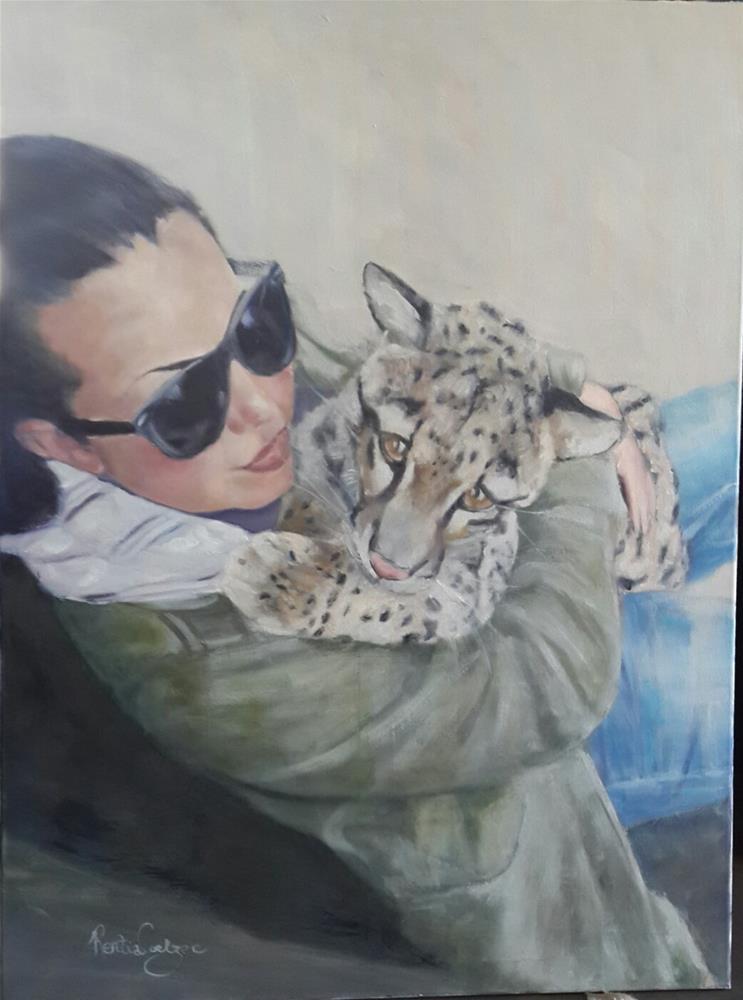 """Bush baby"" original fine art by Rentia Coetzee"