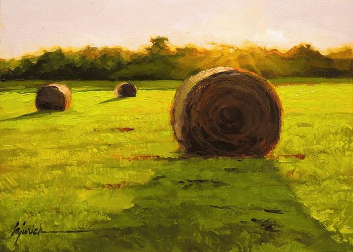 """Haylight"" original fine art by Karin Jurick"