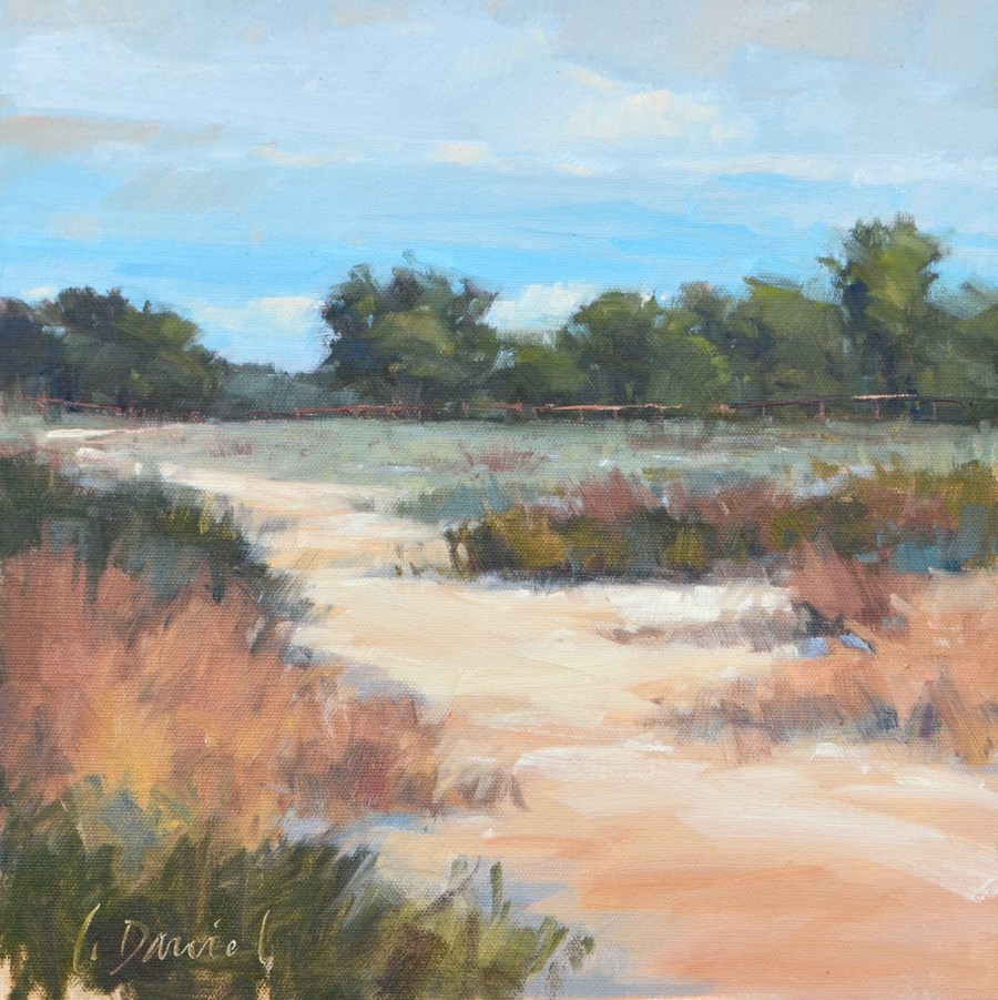"""Ranch Path - En Plein Air Texas!"" original fine art by Laurel Daniel"