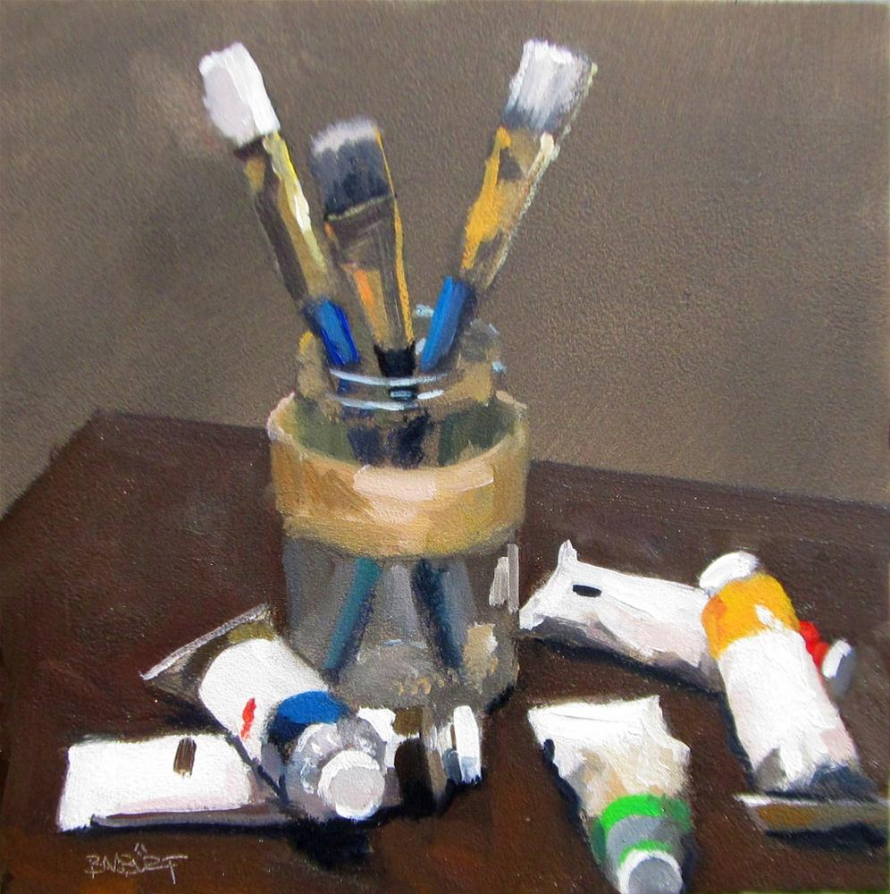 """#285 Table Top"" original fine art by Brian Burt"