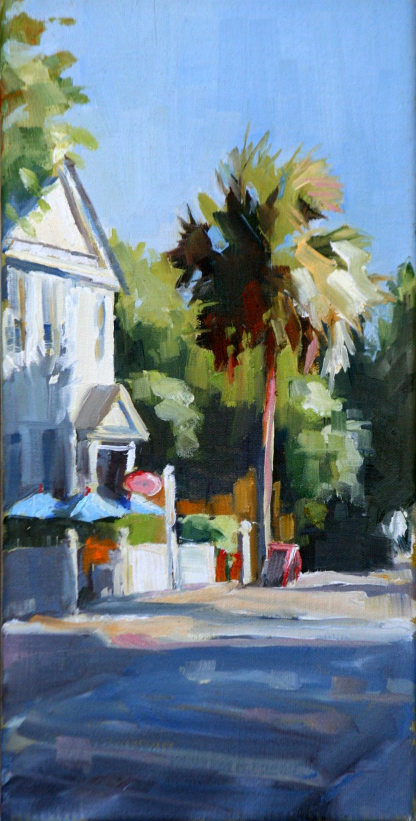 """charleston side street"" original fine art by Carol Carmichael"