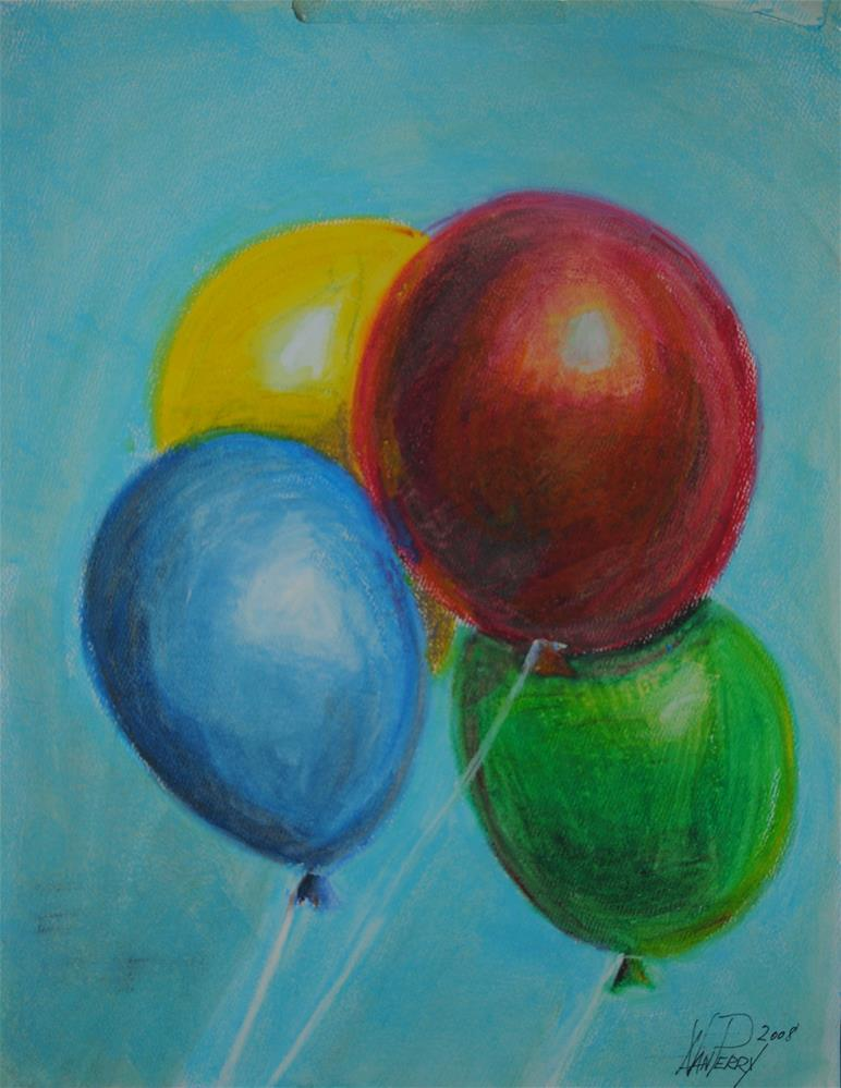 """Balloons"" original fine art by Nan Perry"
