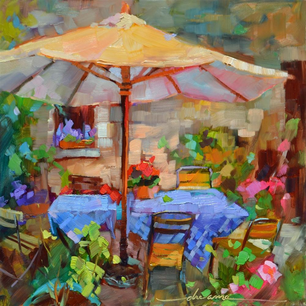 """Shades of France"" original fine art by Dreama Tolle Perry"