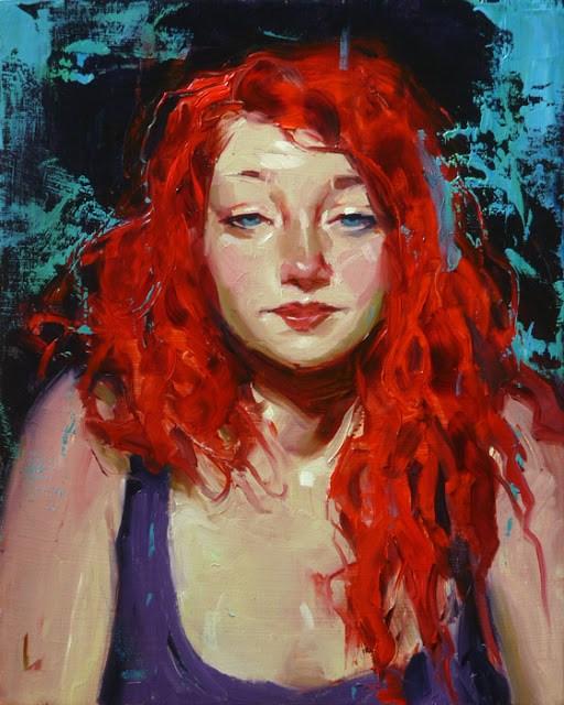 """Red Hot"" original fine art by John Larriva"