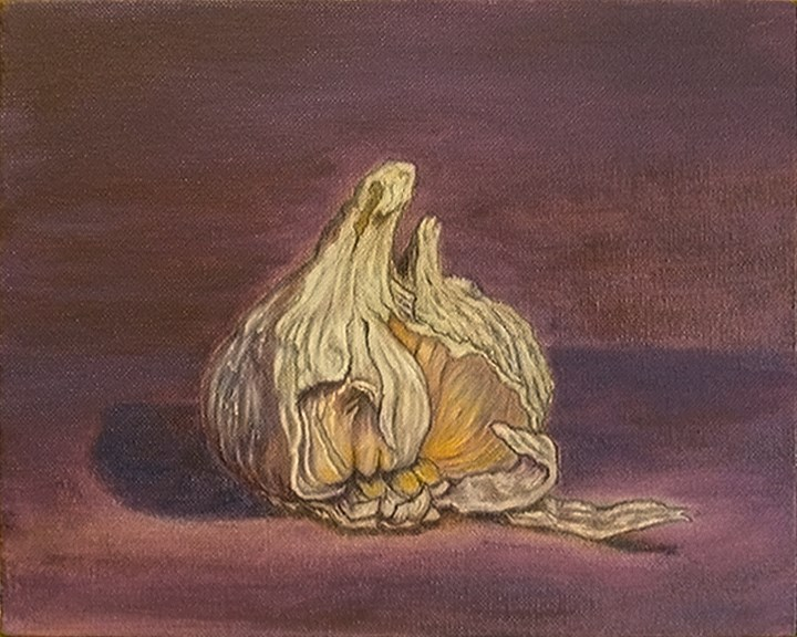 """Garlic Study v1"" original fine art by Mary Sylvia Hines"