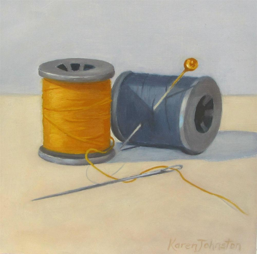 """Sew Ready"" original fine art by Karen Johnston"