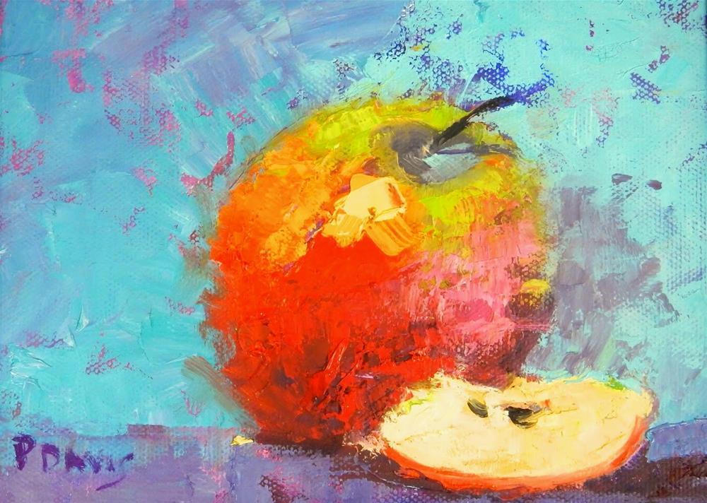 """A Slice of Apple"" original fine art by Phyllis Davis"