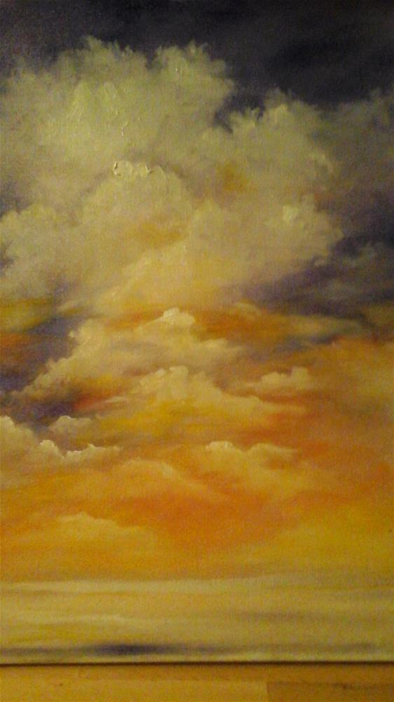"""Glorious Clouds"" original fine art by Sue Lorenz"