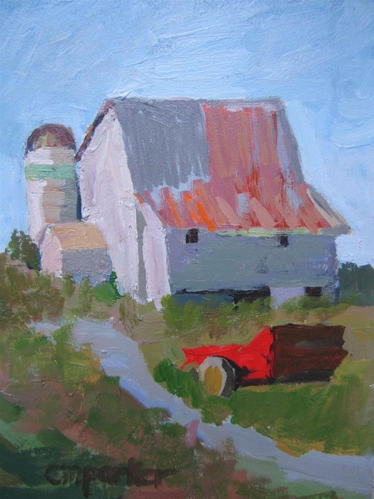 """Farm"" original fine art by Christine Parker"