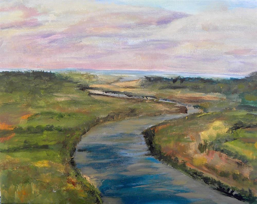 """The River"" original fine art by cheryl buhrman"