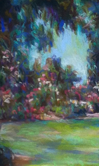 """LOVELY (Huntington Gardens) - 8 x 5 pastel landscape by Susan Roden"" original fine art by Susan Roden"