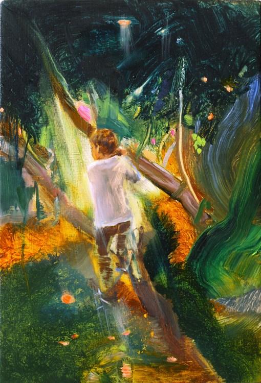 """Climbing trees"" original fine art by Eszter Szicso"
