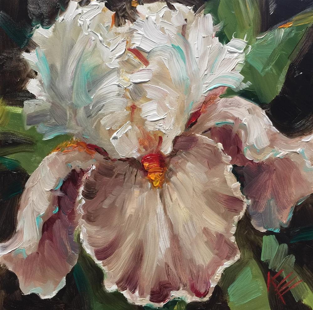 """Magharee: Tall bearded Iris"" original fine art by Krista Eaton"