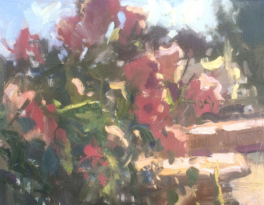 """""""Late Summer Garden """" original fine art by Michael Clark"""