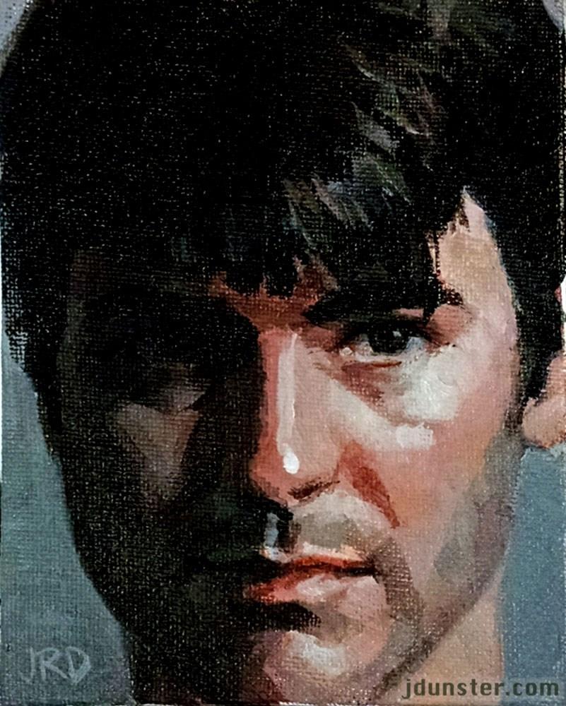 """Jason in Acrylics"" original fine art by J. Dunster"