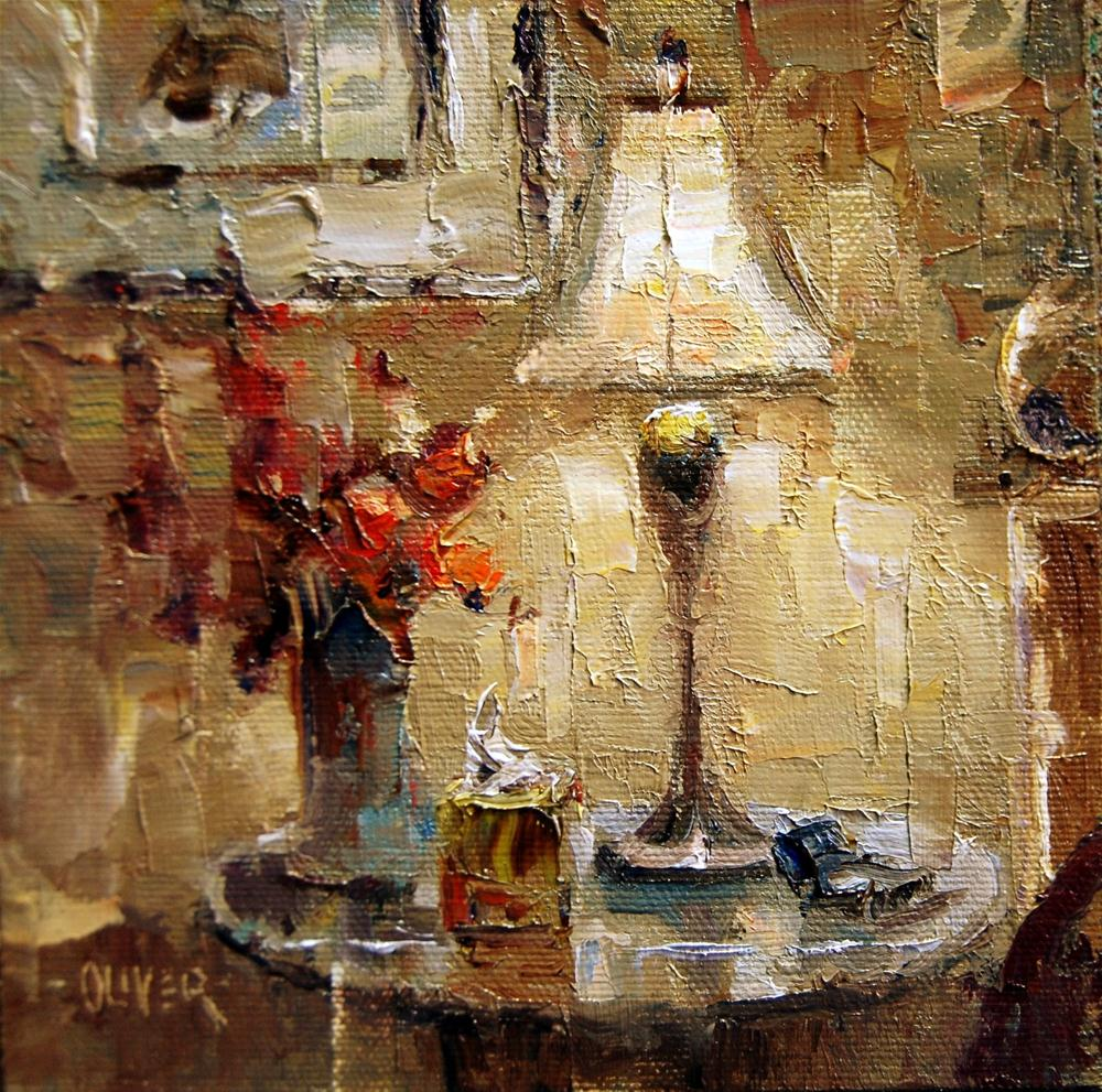 """Bedside Light"" original fine art by Julie Ford Oliver"