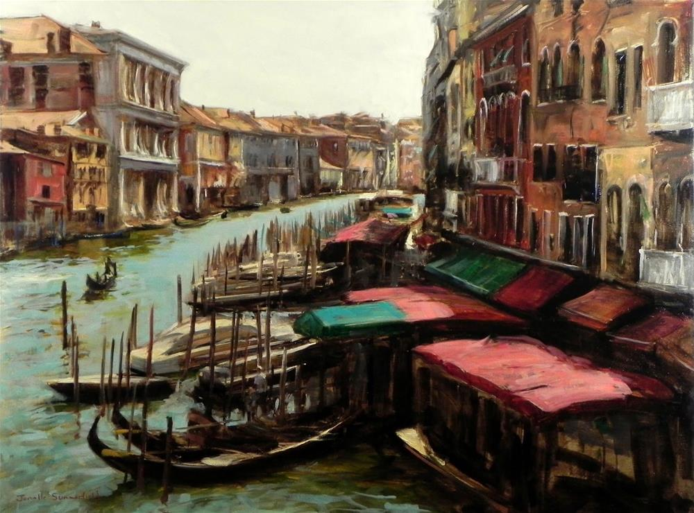 """View From the Rialto Bridge"" original fine art by Jonelle Summerfield"