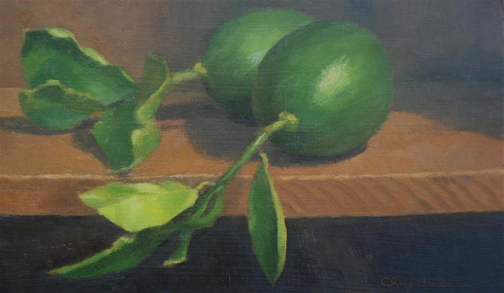 """Two Limes"" original fine art by Cheryl Meehan"