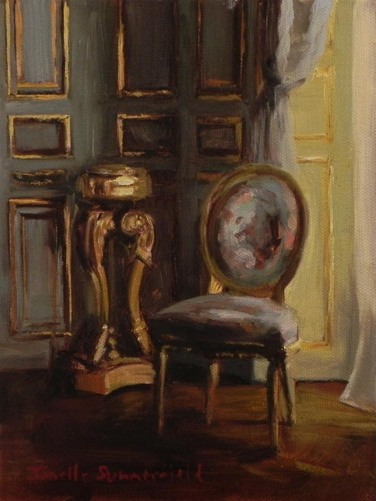 """Blue Chair"" original fine art by Jonelle Summerfield"