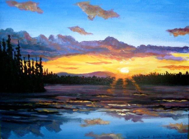 """Spring, Yukon River"" original fine art by Jackie Irvine"