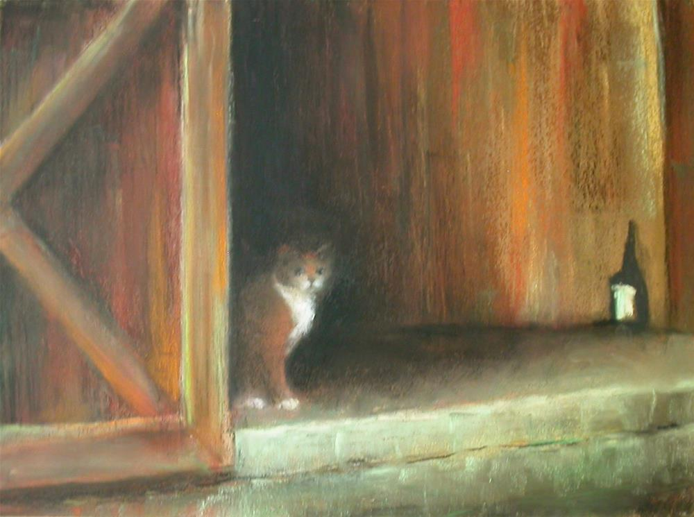 """Barn Cat"" original fine art by Judy Albright"