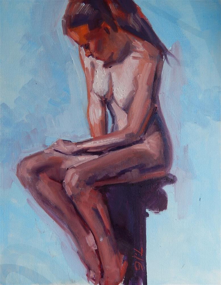 """Nude from Photo Reference"" original fine art by Megan Schembre"