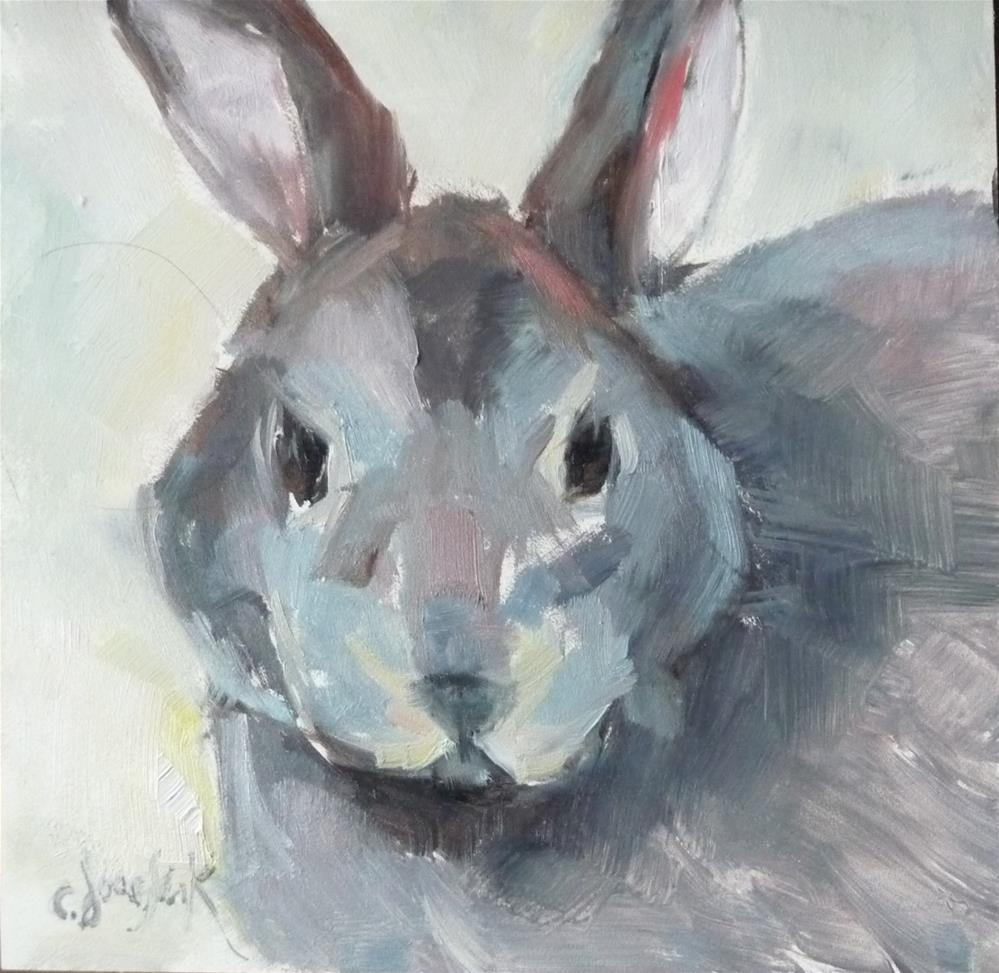 """Funny Bunny"" original fine art by Carol Josefiak"