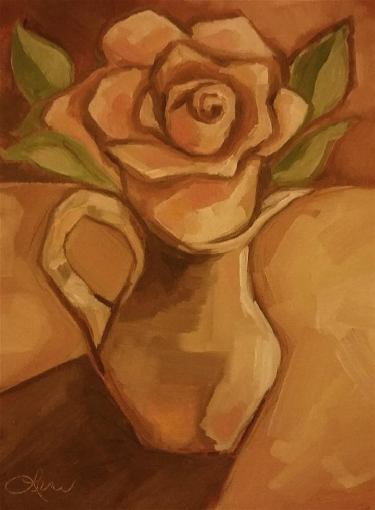 """Antique Rose"" original fine art by Leni Tarleton"