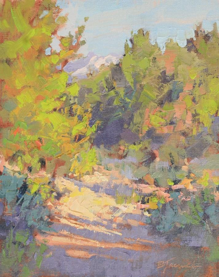 """View From Mountain High Loop"" original fine art by Barbara Jaenicke"