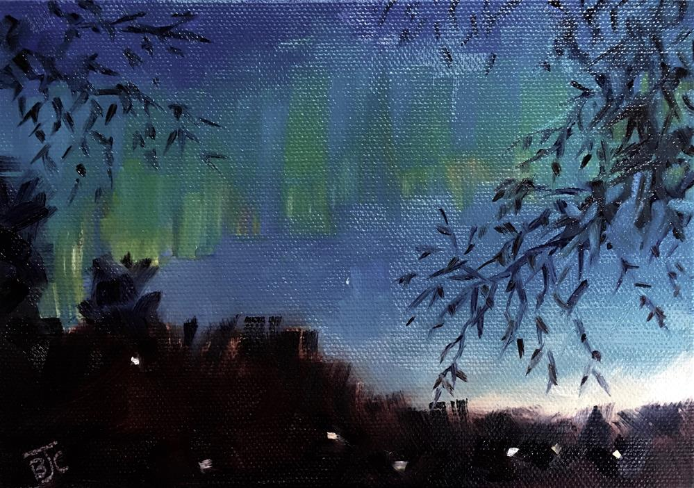 """Early Morning Aurora"" original fine art by Bobbie Cook"