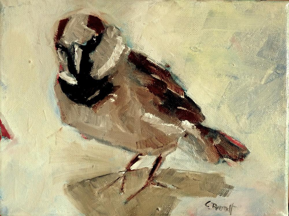"""sparrow"" original fine art by Claudia Brandt"