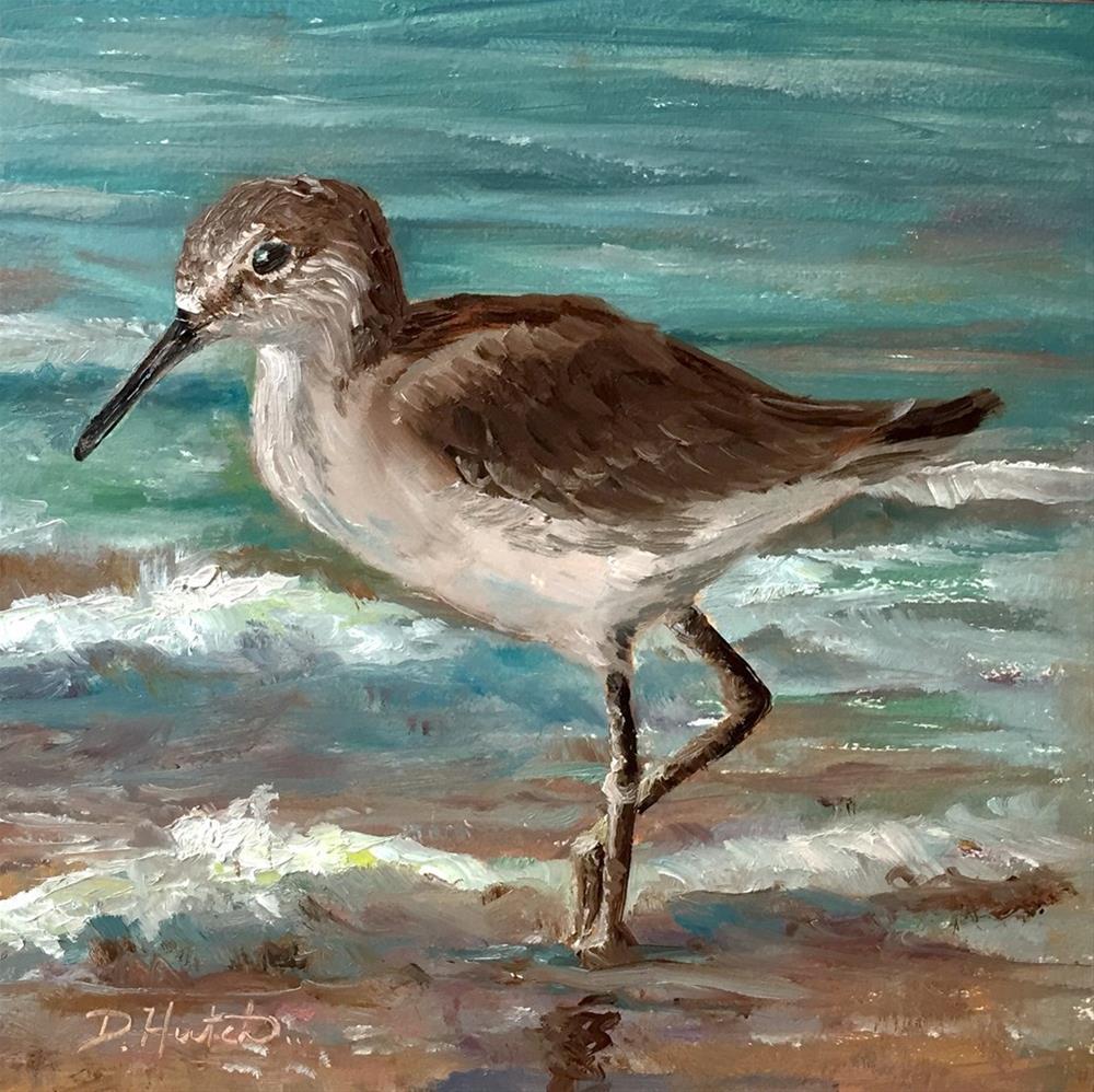 """""""Sandpiper 2"""" original fine art by Diane Hutchinson"""