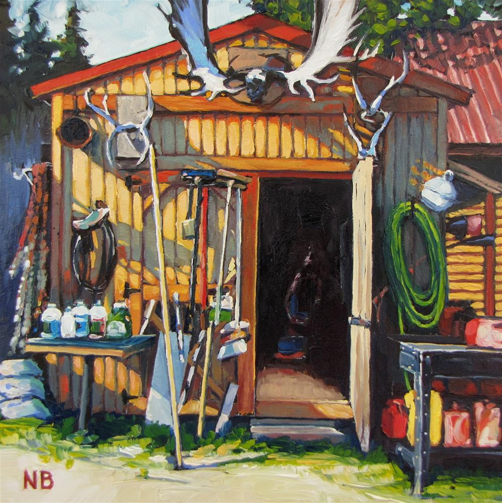 """Fish Camp Tools"" original fine art by Nora Bergman"