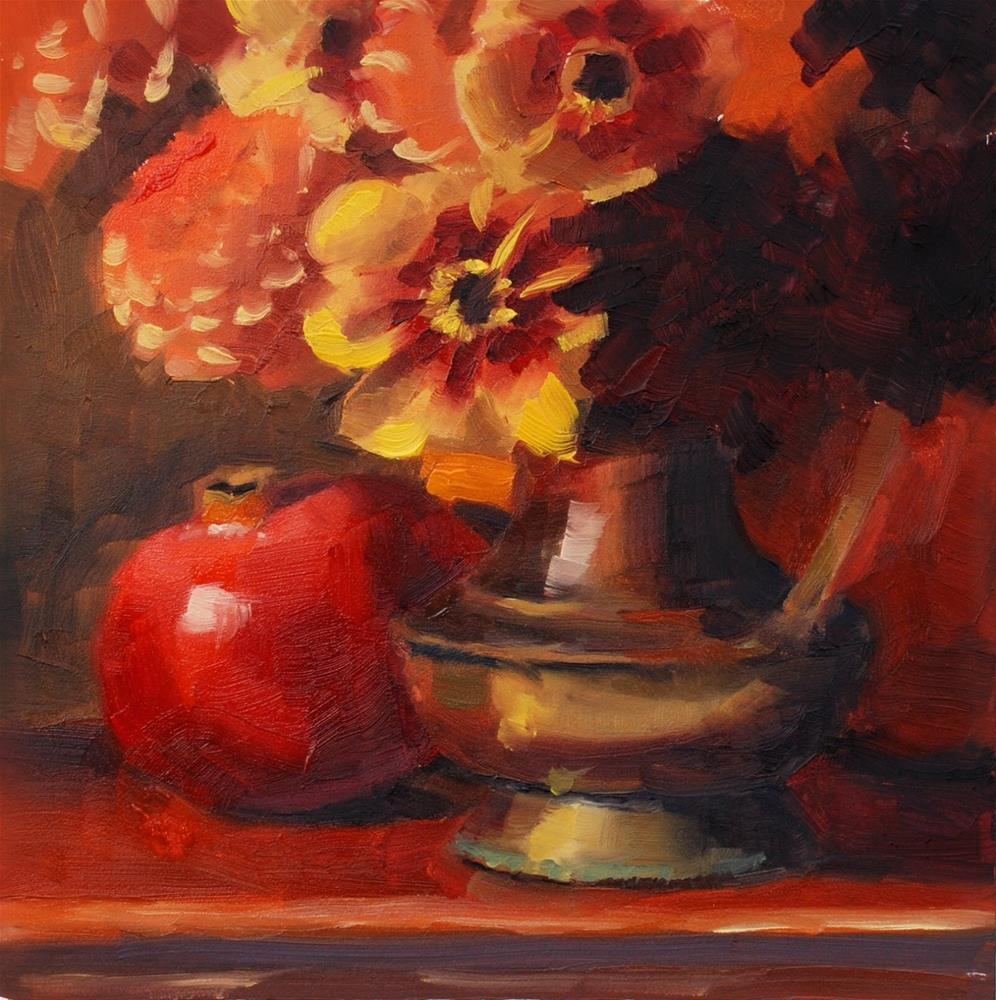 """No. 670 U-Pick Dahlias"" original fine art by Susan McManamen"