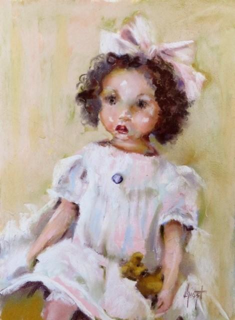 """Miss Pink"" original fine art by Anne Marie Propst"