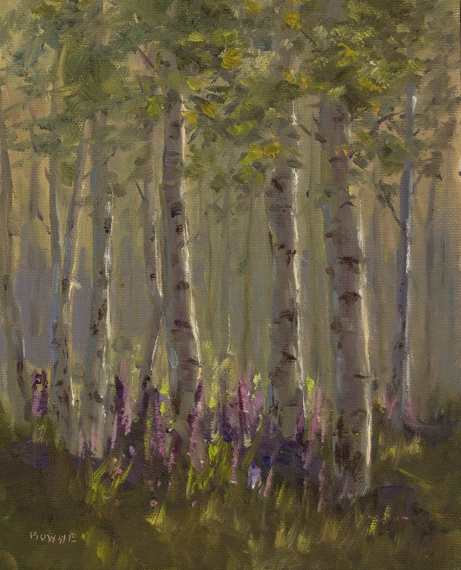 """Summer in Steamboat Springs"" original fine art by Bonnie Bowne"