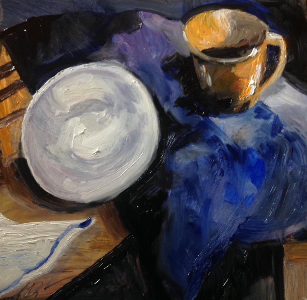 """Paper Plate"" original fine art by Annette Balesteri"