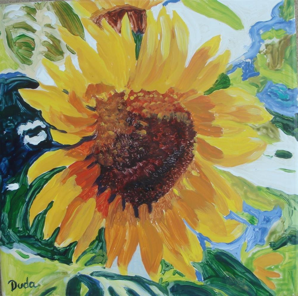 """Sunflower"" original fine art by Susan Duda"