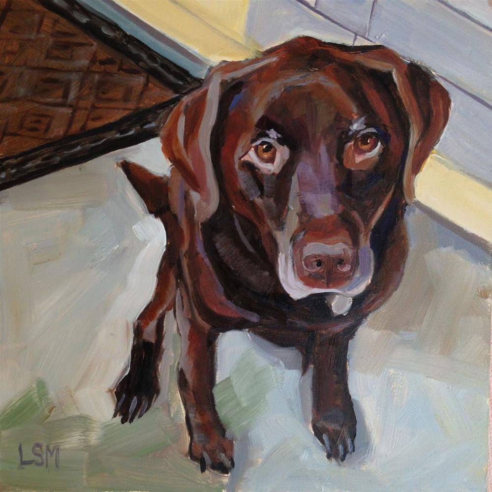 """Bailey - Pet Portrait"" original fine art by Linda Marino"